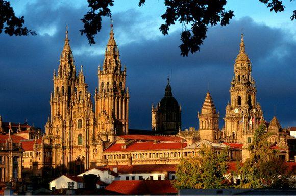 Arrived in Santiago Spain