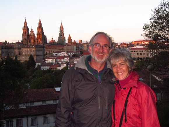 Sunset in Santiago de Compostela